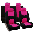 9pc Washbale Car Truck Seat Cover Protector 5-seat Universal Frontrear Full Set