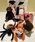 TY Beanie Babies Lot of 8 Sly Roam Congo Loosy Spinner (PVC) Batty Wise Wisest