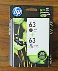 HP 63 Black  63 Tricolor Original Ink Cartridges Combo Pack New Free Shipping