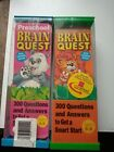 Lot of 2Brain Quest Cards Pre schoolAges 4 5Ages 5 6