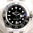MENS STAINLESS BLACK BEZEL ROLEX GMT MASTER II 116710LN 2016 YR W  BOX PAPERS