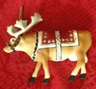 2002 Cow Parade 'Moodolph' Reindeer Cow Christmas Ornament Collectible #7577