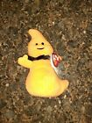 Ty Beanie Babies HAUNT Orange Ghost With Tags 10/30/10 RARE