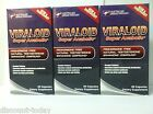 Build Muscle Strength Viraloid Natural Testosterone Booster Vyotech x 3 Bottles
