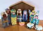 12 Piece Nativity Set Wooden Stable Kids Toy Christmas Colorful 7 Sri Lanka Arm