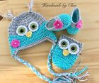 Handmade crochet hat, booties, bottle cover - baby shoes Beanie Cap  0-3 months