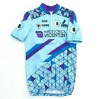NEW PDG Italian Short Sleeve Cycling Jersey Mens Small Blue Purple Schwinn Retro