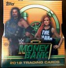 2019 Topps WWE MONEY in the BANK New Factory Sealed HOBBY MASTER BOX 4 Hits