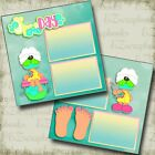 Spa Day 2 Premade Scrapbook Pages EZ Layout 4604