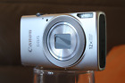 Canon Digital Ixus 170 20mp 12x Zoom - 25mm Wide Angle Lens Silver BOXED UK