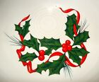 FiestaWare Retired Christmas Holly & Ribbons Cereal/Soup Bowl EUC~~Nice!!
