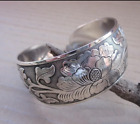 Tibetan Tibet Silver Peony Totem Carved Bangle Cuff Fashion Bracelet Jewelry Hot