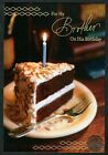 BIRTHDAY Piece of Cake Frosting Candle For Brother Birthday Greeting Card