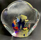Vintage Murano Glass Aquarium 7 Fish Art Piece Paperweight Italy 6 X 6 4 Lbs