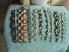 LOT OF 10 VINTAGE ORNATE BRACELETS EXCELLENT CONDITION JEWELRY DEALERS ESTATE