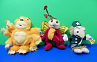 Krofft Superstars Clang Seymour Sparky Sid & Marty Lot of 3 Beanie Bean Bag Rare