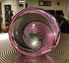 EXCELLENT MODERN ABSTRACT CRYSTAL GLASS SCULPTURE BY SEGUSO FOR OGETTI SIGNED