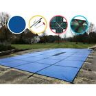 16x36 ft In Ground Safety Pool Cover Solid Rectangle Dirt Winter Protection Blue