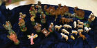 Vintage FONTANINI Nativity Depose Italy Set of 32 Figures  Animals Creche