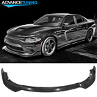 Fits 15 20 Dodge Charger SRT Front Bumper Lip Splitter 3PC Set PP