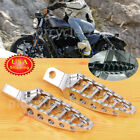 Pair Motorcycle Chrome Footrests Foot Pegs for Harley Dyna Wide Glide EFI FXDWGI