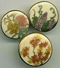Lot of three Antique Buttons Satsuma