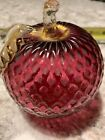 Vintage Venetian Murano Hand Blown Glass Red Apple