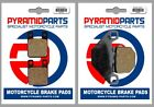 Front & Rear Brake Pads for Derbi Senda DRD XTreme 50 R/SM 2011