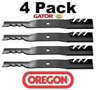 4 Pack Oregon 96 309 Gator Blade for John Deere M112991 M82408 M83459 M84472