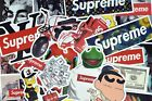 100 Pcs Supreme Stickers Hypebeast Stickers for Hydro Flask Laptop Suitcase Car