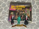 Remco Mini Monsters Play Case w Figures Creature Phantom Dracula Vintage RARE