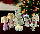 Lenox Peanuts Christmas Pageant 7 Porcelain Nativity set new NIB