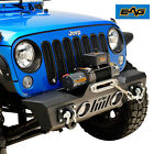 EAG Front Bumper Stubby with Fog Light Hole Fit for 07 18 Jeep JK Wrangler
