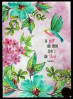 THINKING OF YOU Hummingbird Flowers Religious Thinking of You Greeting Card