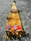Antique 19th C Native American Indian Beaded Rifle Scabbard w American Flags