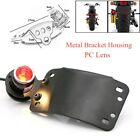 LED Tail Light Side Mount License Plate Bracket Holder Tail Brake Lamp Indicator