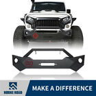 Hooke Road Rock Crawler Front Bumper w Winch Plate for 07 18 Jeep Wrangler JK