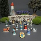 Vintage French Provence Feves Miniature Creche Santons Nativity Figurines 16 pcs