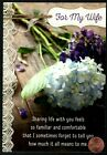 Birthday For Wife Hydrangea Flowers Lace GLITTERED Birthday Greeting Card