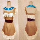 Native Red Indian Woman Princess Pocahontas Squaw Costume Cosplay Fancy Dress