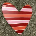 Happy Everything Heart Valentines Day Love Stripe Pink Red 5x5 Free Shipping