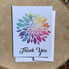 Thank You Colorful Rainbow Flower Greeting Cards VintageMarketplaceGifts