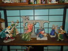 Enesco Complete Vatican Nativity Set Holy Family Creche 3 Kings and Angel