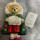 Christopher Radko Bearly In Tune Muffy VanderBear Christmas Ornament retired box