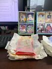 1985 and 1986 Donruss Wax Box with wax wrappers from recently opened boxes