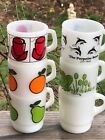 Fire-King Super  Pear Orange Hilda Frog Rose  Coffee The Porpoise Room Mug Cups
