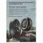 1968 Amoco Radial Oval Tires: Your Family and Our Reputation Vintage Print Ad
