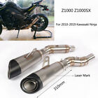 For 2010-2019 Kawasaki Z1000 Ninja Exhaust Pipe Motorcycle Mid Tail Escape L R