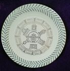 Vintage 1955 Homer Laughlin Fiesta Good Luck Calendar Plate Off White Ivory