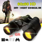 60X60 Zoom Binoculars Day Night Vision Travel Outdoor HD Hunting Telescope +Bag